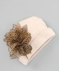 Take a look at this Tan Leopard Beanie by Truffles Ruffles on #zulily today!
