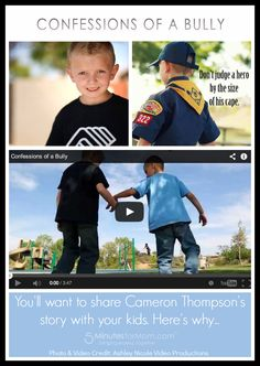 Confessions of a Bully - Cameron Thompson, 7 Year-Old Anti-Bully Activist