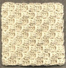 Diagonal Block Stitch Square by Susan Smith  Free Written Pattern: http://web.archive.org/web/20070711023911/http://members.aol.com/crochettalk2/diablst.html  #TheCrochetLounge #crochet #diagonal #diagonalbox #cornertocorner #tutorial