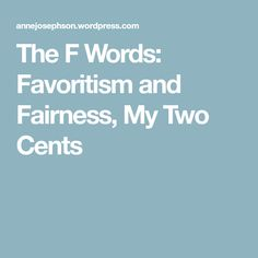 The F Words: Favorit