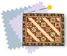 Take a class from expert quilter Marti Michell in this skill-building video. Marti demonstrates a neat chain piecing trick to help you know what to piece next, and how to press the seams to make nice, flat blocks that will be easy to quilt. She also shows several styles of Log Cabin quilts.