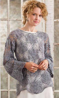 Lacy+Crochet+Top+Pattern | Crochet tops patterns, Crochet sweater patterns
