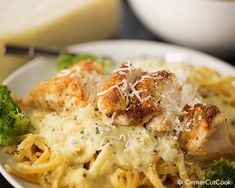 Parmesan crusted chicken alfredo...just made this and it might be new go-to!  YUMMY!!!