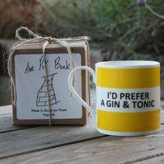 I'd Prefer A Gin and Tonic Hoop Mug