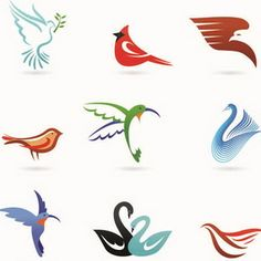Birds Logo Elements Vector Birds Logo Elements Vector