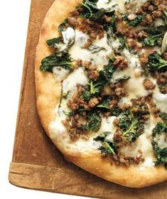 Sausage, Spinach, and Provolone Pizza recipe http://VIPsAccess.com/luxury-hotels-cancun.html