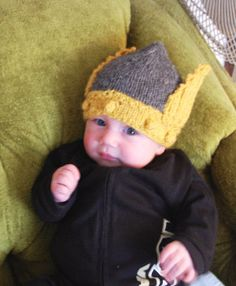 Knit your baby a hat worthy of their burgeoning spirit: the Valhalla Baby Helmet. This knit baby hat pattern is perfect for your little warrior or warrior maiden. You'll enjoy creating this hat almost as much as your toddler likes wearing it. This is one knit hat that will inspire envy in everyone who sets eyes on it.