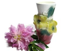 Vintage Royal Copley Vase with Flowers by borahstyle on Etsy, $20.00