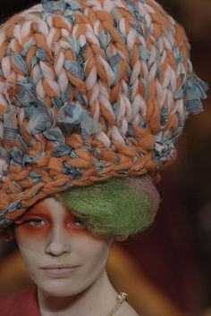 awesome knitted hat via Chloe220's Flickr #hats #fashion #knitting #scale