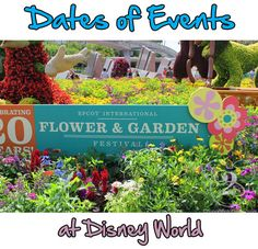 When planning your dates at Disney World, you also need to plan your trip around the Dates of Events At Walt Disney World .