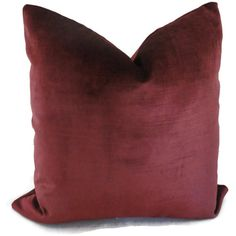 Velvet Plum Decorative Pillow Cover 20x20 Accent by PopOColor, $50.00