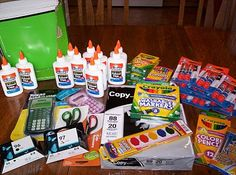 List of homeschool supplies to stock up on