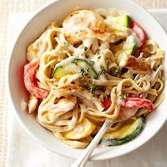 italian recipes, diabetic friendly, diabetic living, pasta recipes, food, sweet pepper, alfredo sauce, healthy chicken, recipe chicken