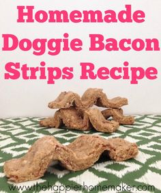 Homemade Doggie Bacon Strips Recipe. RadioFence.com Pet Products