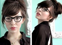 hair dos, hair tutorials, hairstyles with glasses, 10 beauti, librarian