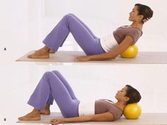 Massage your back with a medicine ball to relieve back pain and lengthen your spine.