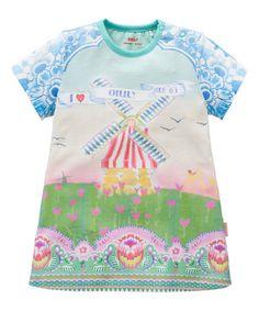 Look at this #zulilyfind! Blue Dutch Skies Panel Shirt Dress - Toddler & Girls by Oilily #zulilyfinds
