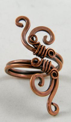 Forged and Wire Wrapped Copper Ring  Adjustable by TheLastLink, $20.00 Could you write a short name when wrapping with the loops?????