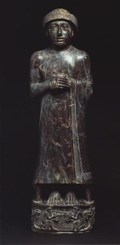 Ur-Ningirsu, son of Gudea. See The Face of Ur-Ningirsu. Sumerian culture,3000-2900 BC