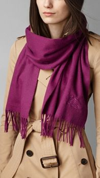 Embroidered Cashmere Scarf | Burberry