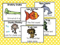 Reading Strategy posters that I use to teach my students how to use a variety of strategies to figure out unknown words.   Because each strategy has an animal icon attached to it the kids really get it!  These are brilliant!