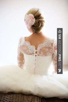 Wow! - Lace sleeves & a flower in the hair - via Style Me Pretty - 2013 wedding trends | CHECK OUT MORE GREAT WEDDING HAIRSTYLES AND WEDDING HAIRSTYLE INSPIRATIONS AT WEDDINGPINS.NET | #weddings #hair #weddinghair #weddinghairstyles #hairstyles #events #forweddings #iloveweddings #romance #beauty #planners #fashion #weddingphotos #weddingpictures