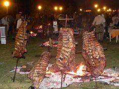 Fiesta del Costillar asado a la estaca - Tabossi, Entre Ríos