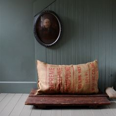 wood+burlap=cool lil' spot:)