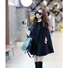 Fashion Winter Women Cape Coat