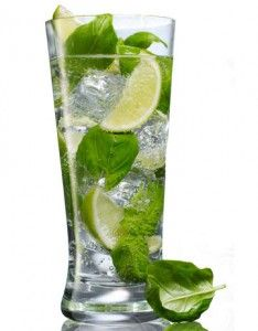 Lime Basil Cocktail - like a mojito with vodka and basil instead of rum and mint.