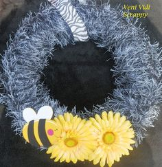 Sunflower and Bee Wreath