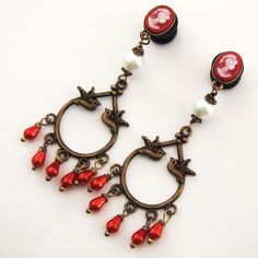 Gorgeous dangle plugs from glamsquared