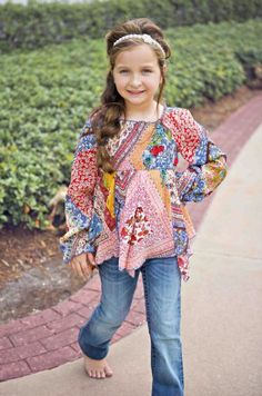 Girls Hanky Boho Top Matching Little Sister Dress Available!