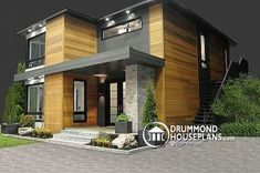 The ever-increasing Drummond modern contemporary home plan collection