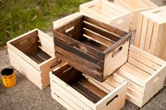 crate shelves tutorial. can't wait to make these