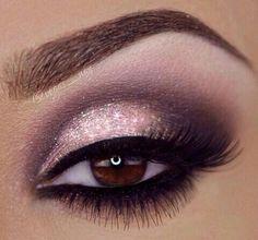 Glam day makeup, makeup eyes, smokey pink eye, makeup ideas, hair style, purple eye makeup, winged eyeliner, wedding makeup, perfect eye brows