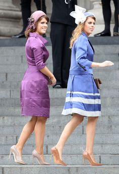 Magnificent St Paul's service to celebrate Diamond Jubilee - Princess Beatrice and Princess Eugenie.