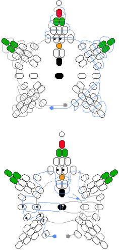 Snowman star  beadie pattern