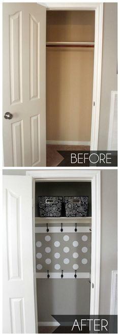 closet makeovers, hallway closet, small closets