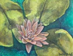 E Makes Art: Waterlily Texture Painting by Esther Orloff