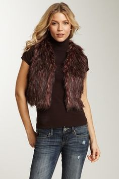 Faux Fur Cropped Vest