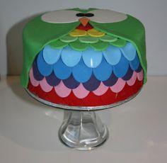 rainbow owl cake