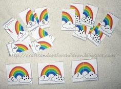 Rainbow Number Matching activity
