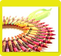 Gather your favorite Spring colors for this fun Crayon wreath!