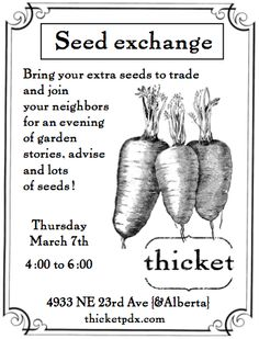 Seed exchange party!