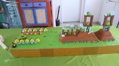 Angry Birds. Playable birthday cake, by Karine Zablit © Rovio Entertainment.