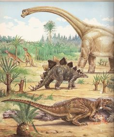 Los iguanodontes del fondo. <3
