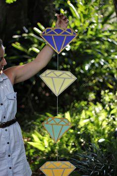 Diamond DIY Garland with glitter tape!