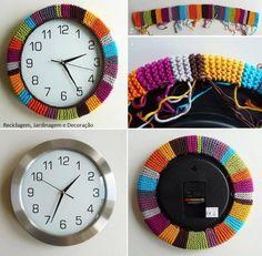 DIY Colorful Clock diy crafts craft ideas easy crafts diy ideas diy idea diy home easy diy for the home crafty decor home ideas diy decorations diy clock