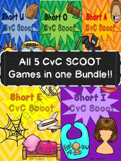 We love SCOOT!! Enter for your chance to win 1 of 2.  5 CvC SCOOT Games in ONE Bundle: Short Vowels A, E, I, O, and U (65 pages) from TheKinderLife on TeachersNotebook.com (Ends on on 10-20-2014)  Help your students master their short vowel sounds with this SCOOT bundle! Good Luck!